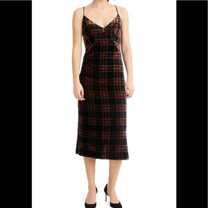⭐️ JCrew Tartan Plaid Velvet Pencil Dress